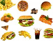stock photo of junk food  - Junk food collection - JPG