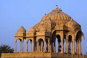 pic of jainism  - Bada Bagh Cenotaph jaisalmer in rajasthan state in india - JPG