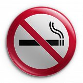 image of warning-signs  - 3d rendering of a badge with a no smoking sign - JPG