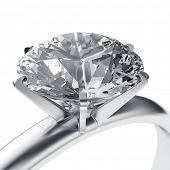 picture of diamond ring  - 3d rendering of a diamond ring - JPG