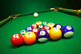 stock photo of pool ball  - billiard balls - JPG
