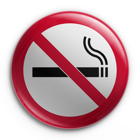 foto of warning-signs  - 3d rendering of a badge with a no smoking sign - JPG
