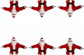 Santa Claus. Isolated on white. Room for text. Santa Claus boarder on a white background.  poster