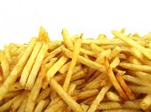 picture of pommes de terre frites  - French fries potatoes - JPG