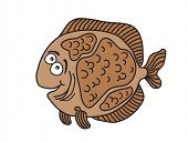 Flatfish cartoon vector illustration