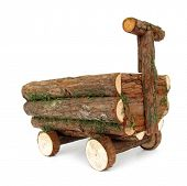 pic of scrappy  - Wooden vehicle cart made of beams - JPG