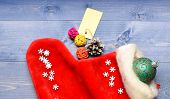 Fill Sock With Gifts Or Presents. Celebrate Christmas. Small Items Stocking Stuffers Or Fillers Litt poster