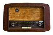 pic of transistors  - Vintage fashioned radio - JPG