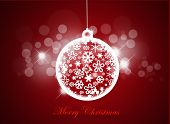 pic of merry christmas text  - Merry christmas background with christmas ball - JPG