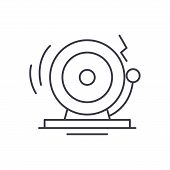 Distress Line Icon Concept. Distress Vector Linear Illustration, Symbol, Sign poster