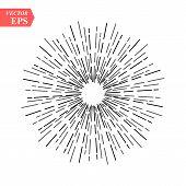 Sunburst Vector Collection. Retro Rays Frames. Star Burst Hand Drawn Circles. Sunshine Decorative El poster
