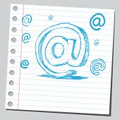 Scribble e-mail sign
