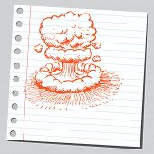 picture of nuke  - Scribble nuclear explosion - JPG
