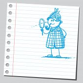 image of private detective  - Scribble detective - JPG