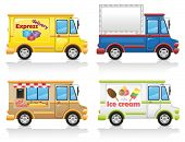 pic of ice-cream truck  - car icon set vector illustration isolated on white background - JPG