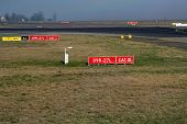 stock photo of gaul  - Taxiways markings on paris airport charles de gaule - JPG