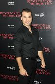 LOS ANGELES - SEP 12: Shawn Roberts at the LA premiere of 'Resident Evil: Retribution' at Regal Cine