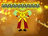 Dussehra festival background. EPS 10.