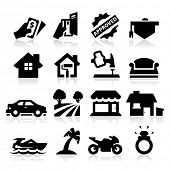 stock photo of payday  - Loan Type icons - JPG