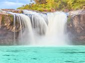 Beautiful Dray Sap waterfall in Vietnam. Panorama