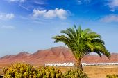 stock photo of papagayo  - Ajaches mountain in Lanzarote Punta Papagayo at Canary Islands - JPG