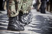 stock photo of parade  - Army parade  - JPG