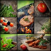 picture of bbq party  - Restaurant series - JPG
