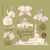 stock photo of jawi  - Ramadan Element - JPG