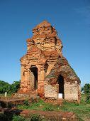 stock photo of nu  - Cham Towers Po sha Nu vietnam - JPG