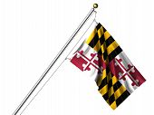 Isolated Maryland Flag