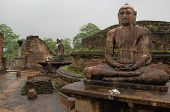 Seated Buddhas In Polonnaruwa Vatadage A