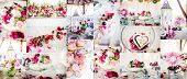 foto of fragmentation  - Wedding decorations collage - JPG