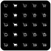 Shopping Cart Icon Set 2 (b/w)