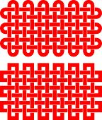 picture of macrame  - Knotted rectangular pattern isolated on white background - JPG