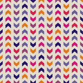 Aztec Chevron seamless colorful vector pattern, texture or background with zigzag stripes