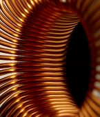 picture of flux  - detail of a electronic conductor in dark back - JPG