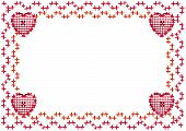 Embroidered Border with Hearts
