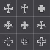 pic of maltese-cross  - Vector choppers crosses on gray background - JPG