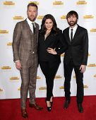 LOS ANGELES - JAN 14:  Charles Kelley, Hillary Scott, Dave Haywood at the 50th Anniversary Of Sports