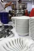 picture of banquette  - photograph of food ware in buffet banquette - JPG