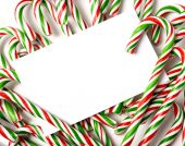 Chrismas Candy Cane Notecard Or Invitation