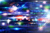 stock photo of hack  - Futuristich technology background with different motion effect - JPG