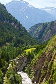 Summer Mountain  Canyon (alps, Switzerland)