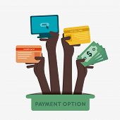 stock photo of debit card  - different payment option like credit card - JPG