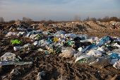 picture of landfill  - Piles of garbage on the city landfill - JPG