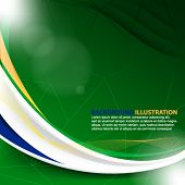 picture of pamphlet  - eps10 vector trendy abstract background - JPG