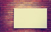 pic of instagram  -  Empty billboard on brick wall done with a retro vintage instagram filter - JPG