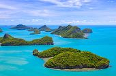 picture of bird paradise  - Bird eye view of Angthong national marine park koh Samui Suratthani Thailand - JPG