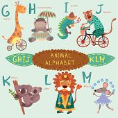 image of letter j  - Cute animal alphabet - JPG