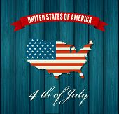 stock photo of patriot  - American Independence Day Patriotic background - JPG